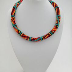 """We on Facebook: http://ift.tt/2jRHDjd Beautiful Beaded Jewelry #underbeads by @underbeads Check our #AmazingPhoto WEBSTA: Native American Patchwork Necklace. Favorite necklace my customers Made to order 59.90 length 19.3 """" (49 cm) thickness of 0.5 """" (12 mm) Packed in a gift cardboard box You can buy in my shop on Etsy. Active link in bio http://ift.tt/1Yc5Afz All work can be seen on the tag #victoriabeads  #etsy #ViktoriaBeads #nativeamerican #etsyshop #jewelry #etsyseller #etsyfinds…"""