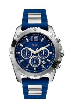 Blue and Silver-Tone Bold Sport Watch | GUESS.com