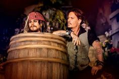 Johnny Depp and captain Jack Sparrow in the Pirates of the Caribbean ride in Disneyland Paris DLP Disney
