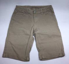 Girl's Arizona Jean Co Khaki Jean Long Shorts, Size 14 Regular, Khaki Beige #AriZona #Everyday