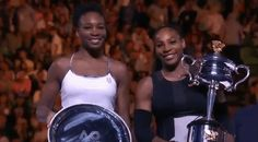 New party member! Tags: tennis australian open aussie open australian open 2017 2017 womens singles final trophies venus and serena serena and venus 1st and 2nd