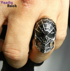 Anel Spider Skull.  Compre Online: www.vanityrock.com.br