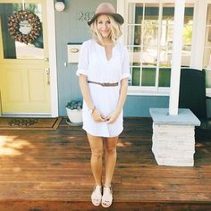 LC Lauren Conrad for Kohl's Embroidered Gauze Tunic Shirtdress