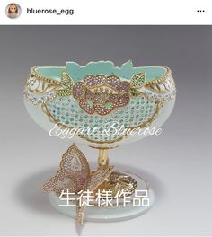 Egg Crafts, Diy Home Crafts, Egg Art, Egg Decorating, Filigree, Decorative Bowls, Projects To Try, Eggs, Fancy