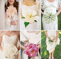 Single bloom wedding bouquets