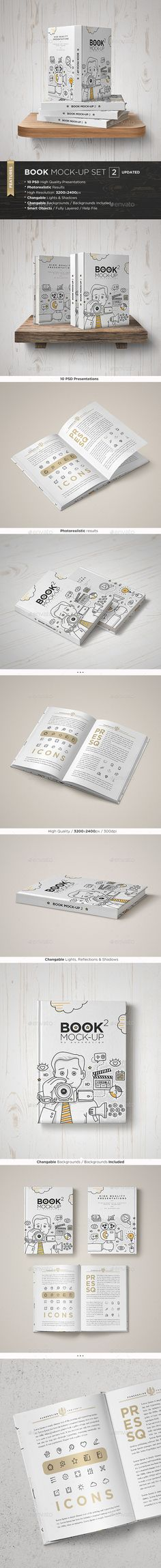 Book Mock-Up  PSD  Template • Only available here ➝ http://graphicriver.net/item/book-mockup-set-2/5278424?ref=pxcr