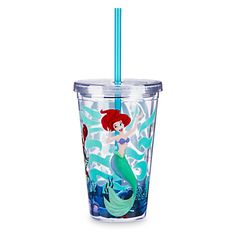 Your WDW Store - Disney Tumbler with Straw - Ariel and Sebastian