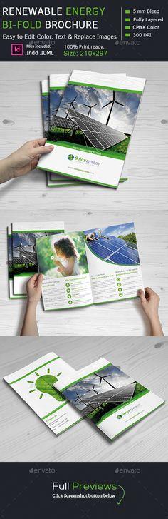 Renewable Energy Bi-Fold Brochures Template #design Download: http://graphicriver.net/item/renewable-energy-bifold-brochures/12238121?ref=ksioks
