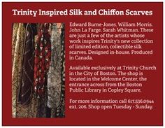 New postcard to promote series of new scarves inspired by interior details of a church.