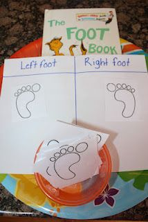 Dr. Seuss - The Foot Book  Sort left foot from right foot.