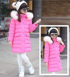 7-16 Years Girls Clothes Winter 2017  Big Girls Winter Parka Teenage Girls Winter Jackets Coats Outerwear Duck Down Warm Clothes