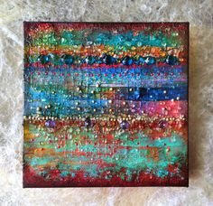 Sparkling MemoriesMixed Media Abstract Canvas Painting by ABYSSIMO, $120.00