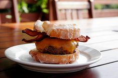 """""""The whole point of this country is if you want to eat garbage, balloon up to 600 pounds and die of a heart attack at 43, you can! You are free to do so. To me, that's beautiful."""" - Ron Swanson (Bacon Donut Burger) #Potluck"""