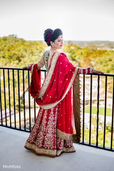This lovely Indian bride poses for beautiful portraits before her wedding ceremony. Bridal Portrait Poses, Bridal Poses, Bride Portrait, Wedding Poses, Wedding Album, Wedding Portraits, Wedding Ceremony, Wedding Ideas, Indian Bride Poses