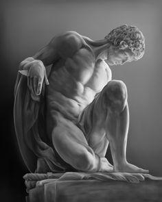 """for-the-duke-of-paris: """" antonio-m: """" Dying Gladiator, Pierre Julien, 1776 Musee du Louvre, Paris """" the-duke-of-paris-archive """" Ancient Greek Sculpture, Greek Statues, Art Masculin, Anatomy Sculpture, Roman Sculpture, Greek Art, Classical Art, Renaissance Art, Aesthetic Art"""