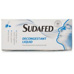 Sudafed Decongestant Elixir Non Drowsy Brilliant decongestant for children 6+. It really works and can prevent ear infections as a result of very bad colds. I used it for an ear infection once and it really cleared it up! Combined with antibiotic ear drops
