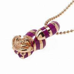 ALICE THE CHESHIRE CAT NECKLACE P-GOLD 24""