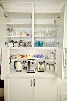 Appliances In butlers Pantry . Appliances In butlers Pantry . Appliance Cabinet Fitted with Adjustable Shelving Power Pantry Door Storage, Pantry Closet, Storage Shelves, Closet Doors, Kitchen Appliances Brands, Kitchen Cabinets, Tall Cabinets, Kitchen Pantry, Kitchen Storage