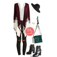 Keep a Mellow Profile Cardigan by modcloth on Polyvore featuring Brit-Stitch