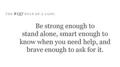 I am loving this site!  Rules of a Lady... :)