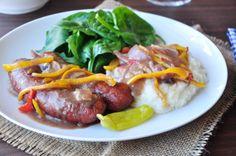 No need to be excluded from enjoying this treat if you're vegetarian.   #Food #BangersAndMash #Vegetarian  http://www.food.com/recipe/gourmet-bangers-mash-21135?photo=369724