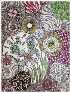 Doodle art/ zentangle / my art Theme bulles