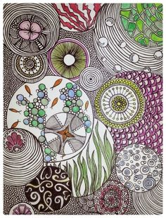 Doodle art/ zentangle / my art Theme bulles