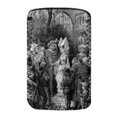 The Bride and Groom entering the hall, scene from 'The Rime of the Ancient Mariner' by S.T. Coleridge, published by Harper & Brothers, New York, 1876 (wood engraving) by Gustave Dore - Protective Phone Sock - Art247 - Standard Size $9.50