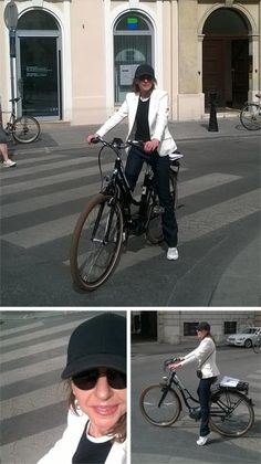 Testing the new Puch e-bike Waffenrad in the streets of Vienna. Vienna Insight by Fashionoffice publisher Karin Sawetz.