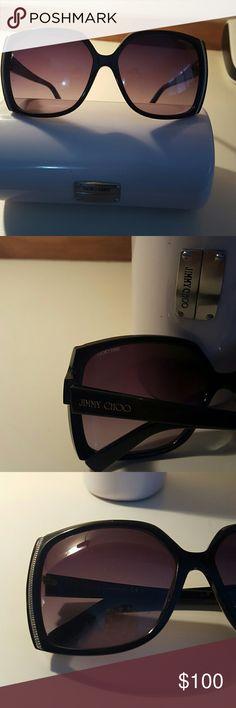 Beautiful Jimmy Choo sunglasses Black and gold Jimmy Choo sunglasses authentic Jimmy Choo Accessories Sunglasses