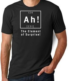 Ah Element Of Surprise T Shirt Mens And Womens Funny Gift