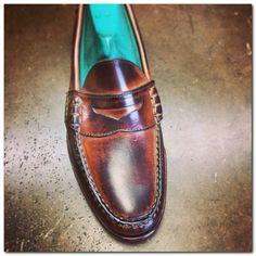 Rancourt burnished penny loafer