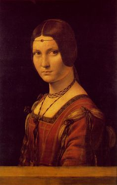 Portrait of a Lady from the Court of Milan (La Belle Ferronniere) - Leonardo da Vinci, 1490-95