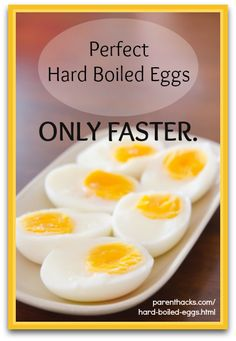 Cooking TIp: How to cook Hard boiled eggs in half the time. I keep trying to make eggs that will peel easier....