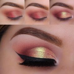 Beautiful Ways to Wear Red Eyeshadow Pampadour