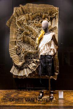 "DRIES VAN NOTEN, Assemblages by André Bogaert titled ""FLOWER"",pinned by Ton van der veer"