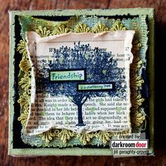 Handcrafted canvas art. By Jill G-Groves.