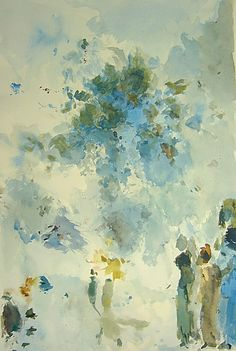 Aquarell von Andres Kreienbuehl, x cm Watercolor, Flowers, Painting, Art, Watercolor Painting, Fantasy, Pen And Wash, Art Background, Painting Art
