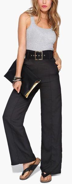 Farah Wide Leg Pants. Interesting look!
