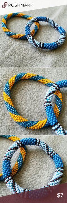 2 Beaded Nepal Bracelets 2 Beaded Nepal Bracelets. Jewelry Bracelets