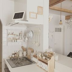 Bedroom Minimalist, Minimalist Home, Vintage Kitchen Decor, Home Decor Kitchen, Kitchen Desks, Bathroom Interior, Interior Design Kitchen, Room Set, My Room
