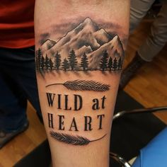 Wild at Heart Mountains and Forrest Tattoo | Venice Tattoo Art ...
