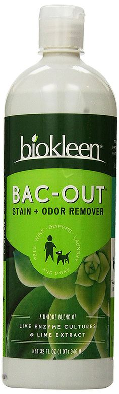 Biokleen Bac-Out Enzyme Cleaner Stain & Odor Eliminator Remover, 32 Fl Oz 6 Pack