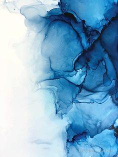 "'Blue Tides - Alcohol Ink Painting' Metal Print by Elizabeth Karlson - Blue Artwork - ""Blue Tides – Alcohol Ink Painting"" Metal Prints by Elizabeth Karlson Alcohol Ink Painting, Alcohol Ink Art, Art Sur Toile, Watercolor Background, Art Background, Metallic Paint, Metallic Blue, Framed Art Prints, Duvet"