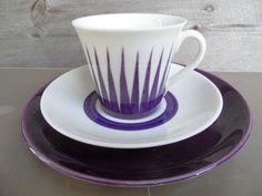 Kaffekopp med fat och asiett - Astra Trost Gefle - Retro på Tradera.com