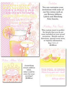 Pink Lemonade Birthday {5x7}-Pink Lemonade Birthday