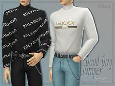 Tucked in jumper in solids and a few with simlish brand prints. Found in TSR Category 'Sims 4 Male Everyday' Sims 4 Men Clothing, Sims 4 Male Clothes, Male Clothing, Male Jumper, Sims 4 Characters, Sims 4 Mm Cc, Sims 4 Cas, Sims 4 Cc Finds, Sims Mods
