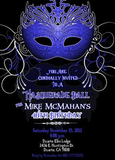 Masquerade Party Invitation - Bridal Shower Masquerade Invitation ...