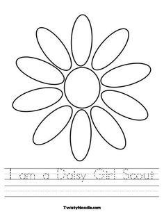 I am a Daisy Girl Scout Worksheet from TwistyNoodle.com