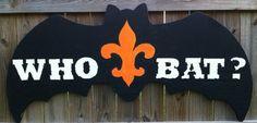 Who bat New Orleans Saints halloween outdoor yard art / lawn ornament